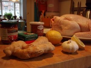 Kylling og ingefær