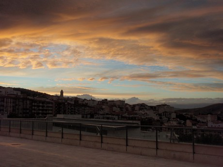 Solnedgang over Loja